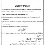 Quality Policy -Certificate